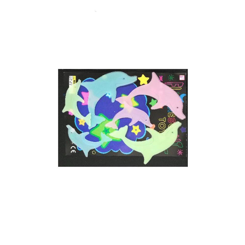 Set 1 3d Estrela Lua Coração fluorescente brilha no escuro luminosas Wall Sticker Estrelas de incandescência para Crianças Quarto Sala Decoração L3n7