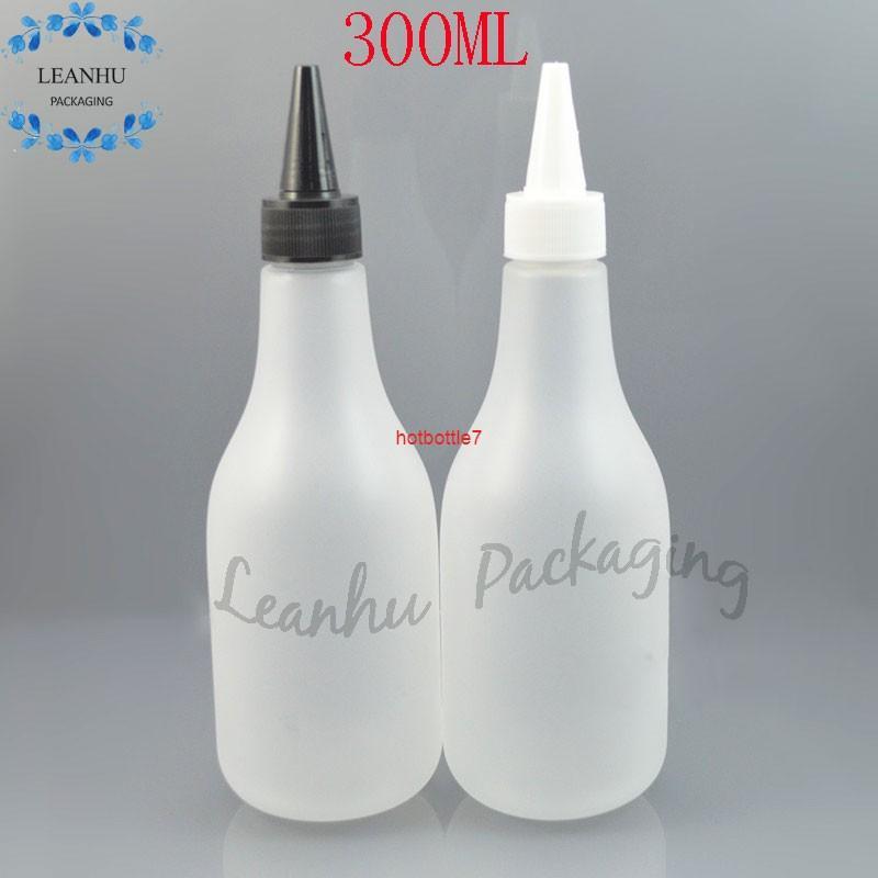 300ml Buzlu Şeffaf Plastik Şişe Sivri Ağız Kapağı ile, Kişisel Bakım Şampuanı Pet Şişe, Doldurulabilir Losyon Kremi BottLeshigh Qualtit