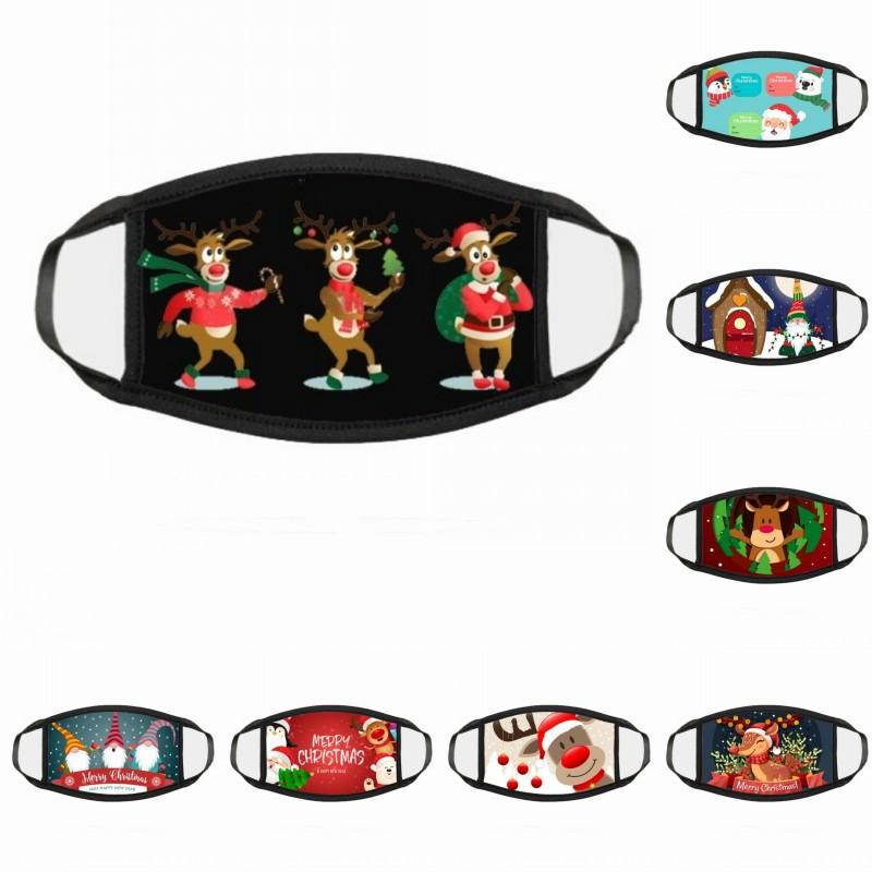 Перевозка груза DHL Merry Christmas Face Mask Мода Творчество Мультики Санта Elk печати Маски Пылезащитно Xmas лица Рот Kimter-X801FZ