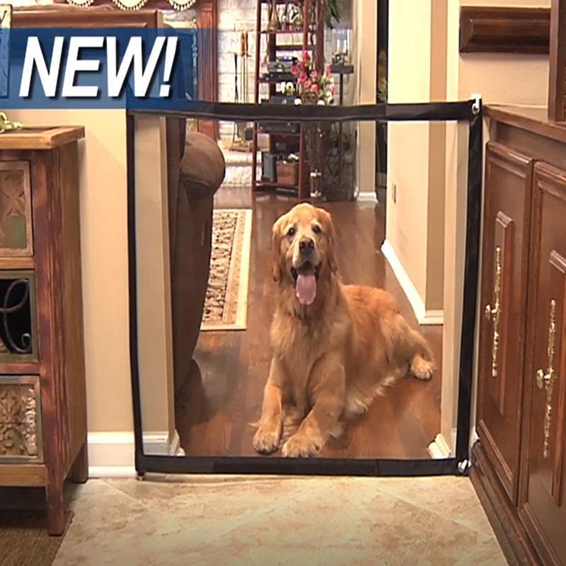 2 tamaños Venta caliente Nuevo Magic-Gate Perro Cercas de Mascotas Portátil Plegable Seguridad Protección Guardia Seguridad Puerta Mágica para Perros Cat Pet