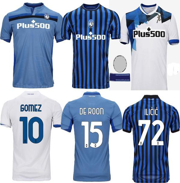 2020 ATALANTA 2021 a.C. Atalanta Soccer Jersey # 10 PICCINI 21 # GOMEZ # 72 Iličić 20 21 Homens maglietta da calciatore