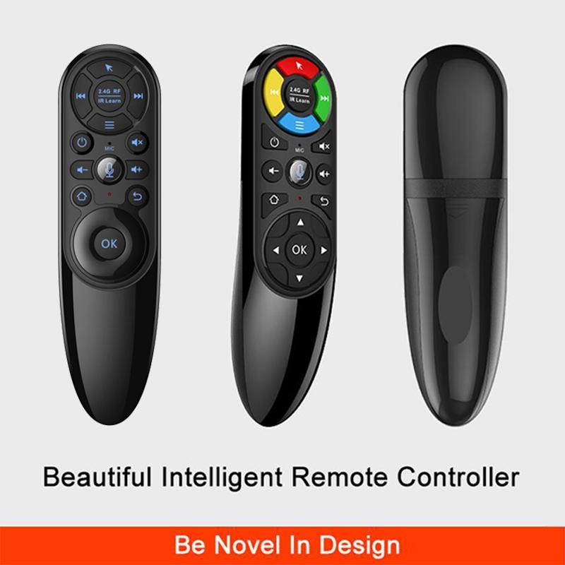 안드로이드 TV 박스 미니 PC에 대한 Q6의 2.4G 무선 에어 마우스 16 키 IR 학습 자이로 스코프 백라이트 음성 원격 제어