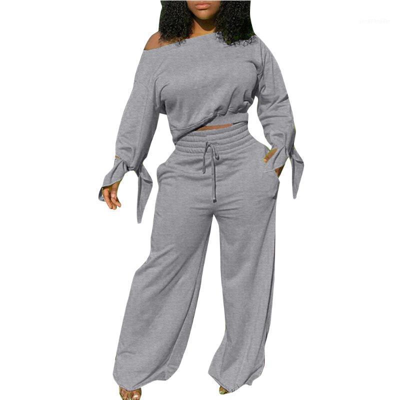 Kountted Women 2 Dois Peça para as Mulheres Suor Suites Calças Crop Top Conjunto Tracksuits Juntos Fall Roupas para Outfits1