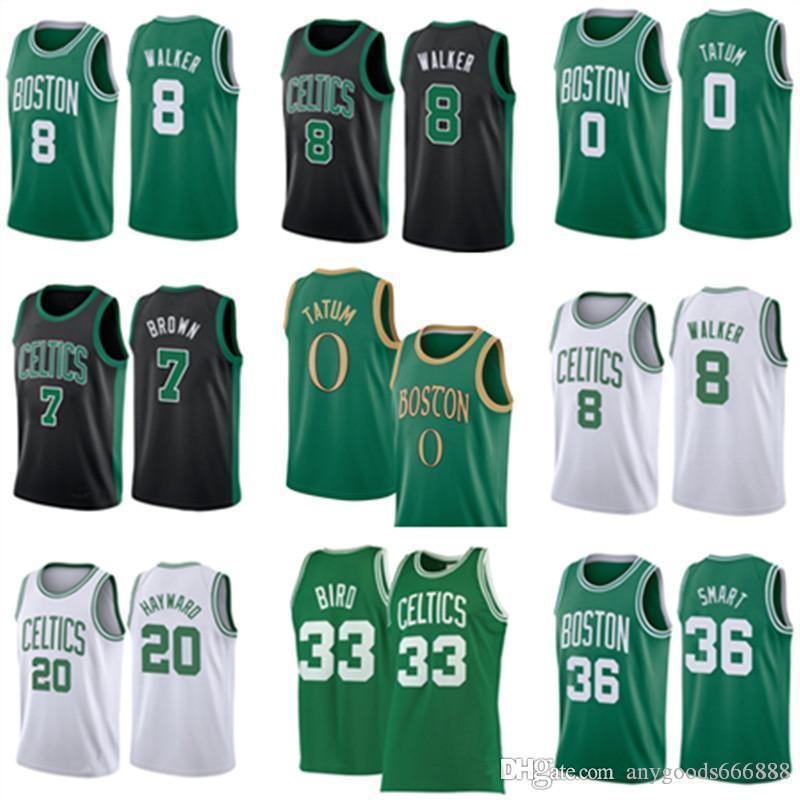 NCAA KEMBA 8 Walker Jayson 0 Tatum Larry 33 Vogel Basketball Jersey Marcus 36 Smart Jaylen 7 Braun Gordon BostonKelten20 Hayward