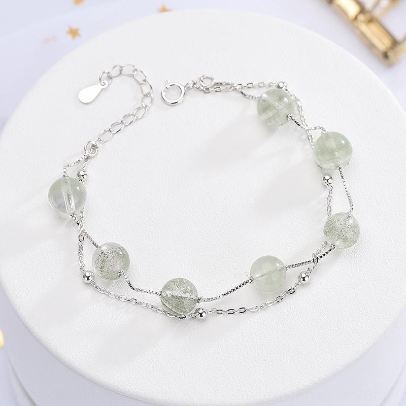 S925 pure silver green ghost green strawberry crystal bracelet under banyan Bracelet CrystalStrawberry Crystal tree Chinese style v1QWw v1QW