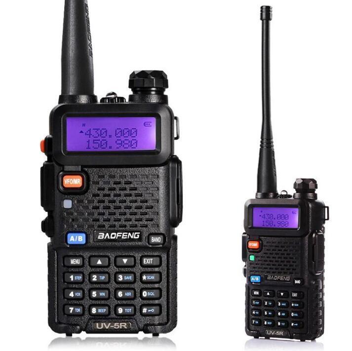 Baofeng UV5R UV5R Walkie Talkie Dual Band 136-174MHz 400-520Mhz Two Way Radio Transceiver com 1800mAH bateria do fone de ouvido livre (BF-UV5R)