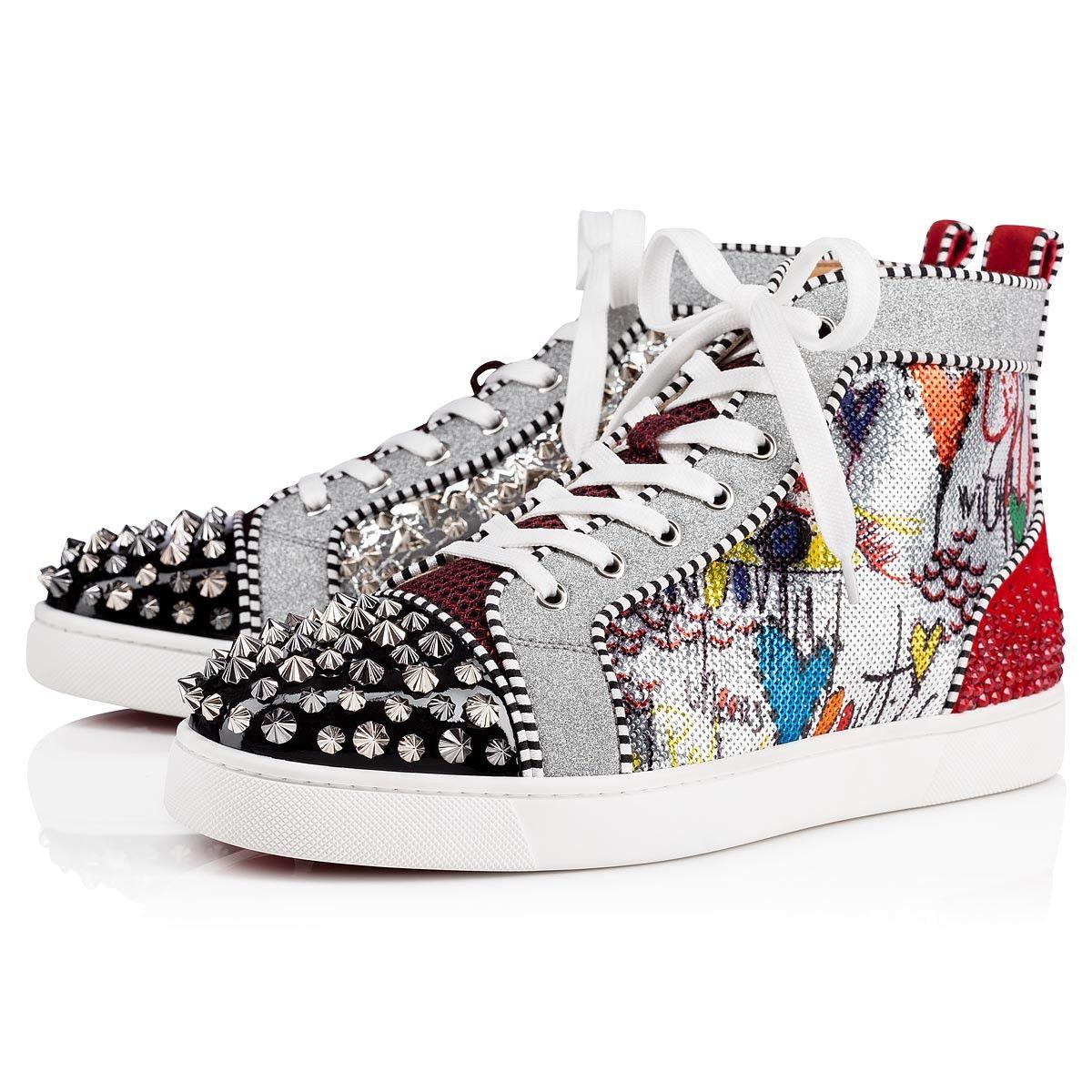 Erkekler Kadınlar Rahat Ayakkabılar Kırmızı Taban Alt Çivili Spike Sneakers Moda Siyah Kırmızı Beyaz Deri Rhinestone Yüksek Kesim Ayakkabı Sneakers