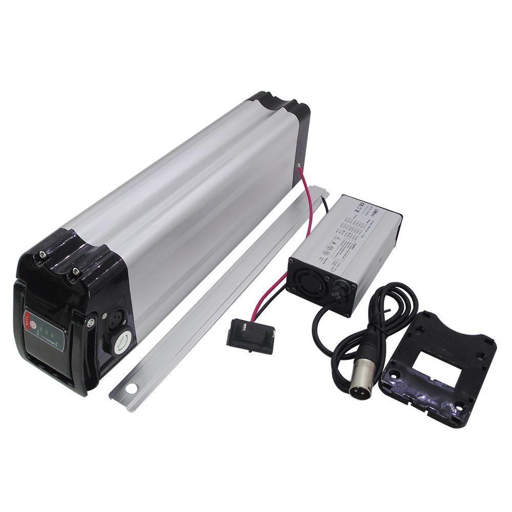Silber Fisch ebike Batteriesatz 36V 10Ah 12Ah 15Ah 250W 500W Elektro-Fahrrad-Batterien mit 42V Ladegerät