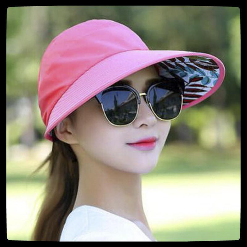 NOUVEAU Femmes d'été Chapeau de soleil large Brim pliant de protection solaire Cap dames Protection UV Chapeau Fille Plage Packable Visor 1pc