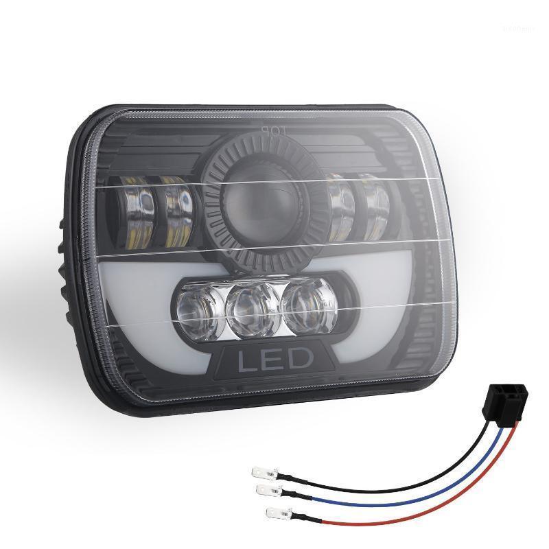 300 W 5x7 LED Farlar LED Mühürlü Işın Başlığı Işık Lambası Yüksek Düşük Işın Far Ile Wrangler YJ XJ1