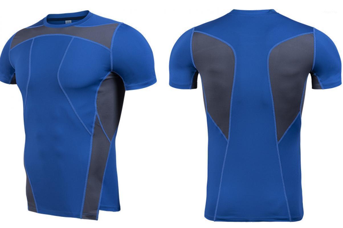 Chemise en cours d'exécution Hommes Sport T-shirt Shirt Short Sprick Sport Shirt Hommes Hommes Top Gym Bodybuilding T Fitness Steel Sportswear1