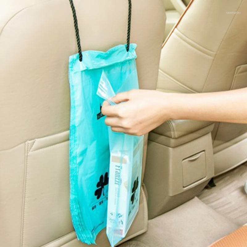 50 قطع حقيبة سلة المهملات سيارة شنقا أكياس القيء سيارة، أكياس القمامة البلاستيكية مقابلة البلاستيك 1