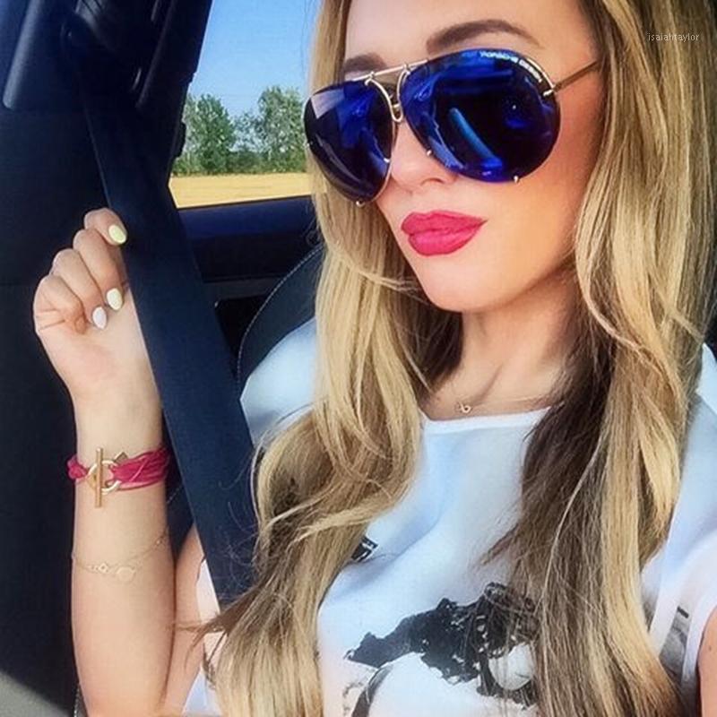 Солнцезащитные очки Негабаритные Авиационные Женщины Мужчины Бренд Дизайнер UV400 Ретро Большие Солнца Глазаные Очки Мужской Женский Золотой Рамка1
