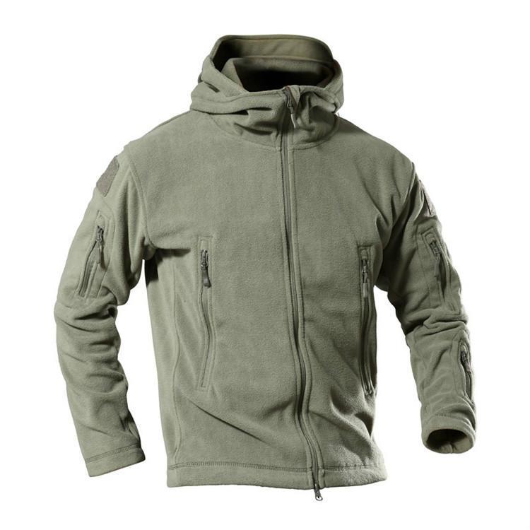 Giacche da uomo in pile uomo tattico uomini all'aperto inverno caldo morbido shell sport con cappuccio cappotti softshell escursionismo esercito