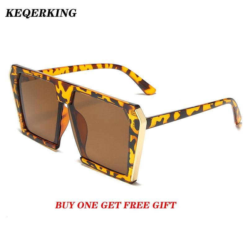 Солнцезащитные очки Женская Квадратная Леопард Большой Рамка Уличные Selfie Sunglasse Женские Очки Oculos Дизайн бренда