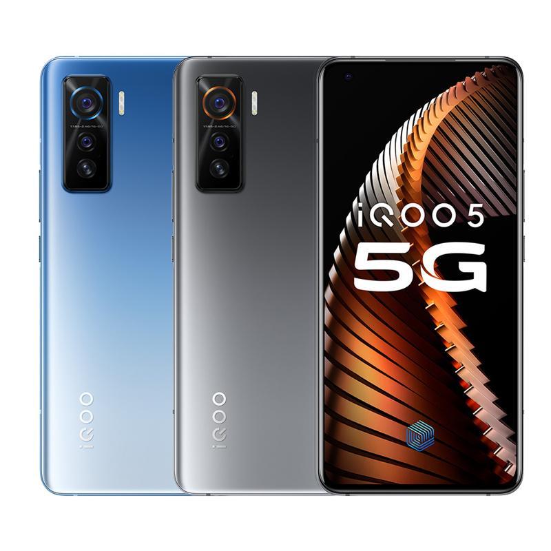"Original Vivo iQOO 5 5G Handy 8 GB RAM 128 GB ROM Snapdragon 865 Octa-Core Android 6.56"" 50MP NFC Fingerabdruck-ID-Gesicht intelligentes Handy"