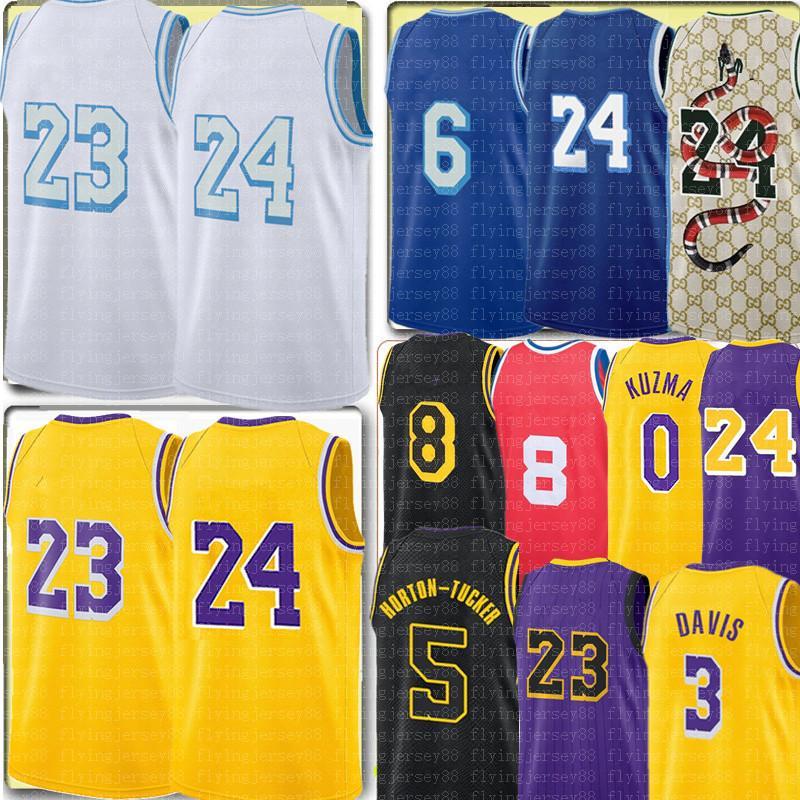 Talen 5 Horton-Tucker Jersey Alex 4 Caruso 23 Jersey Anthony 3 Davis Kyle 0 kuzma jersey ricamo maglie da baskey