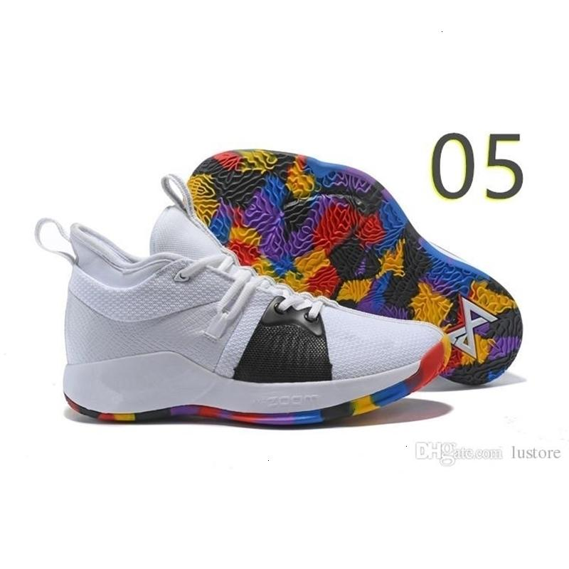 2 Basketbol Paul Pg 2019 George Haber Ii Ayakkabı Satış Üst PG2'dir Starry Mavi Turuncu Bütün Beyaz Siyah Spor Sneakers Boyutu 40-46 Zestore 2s