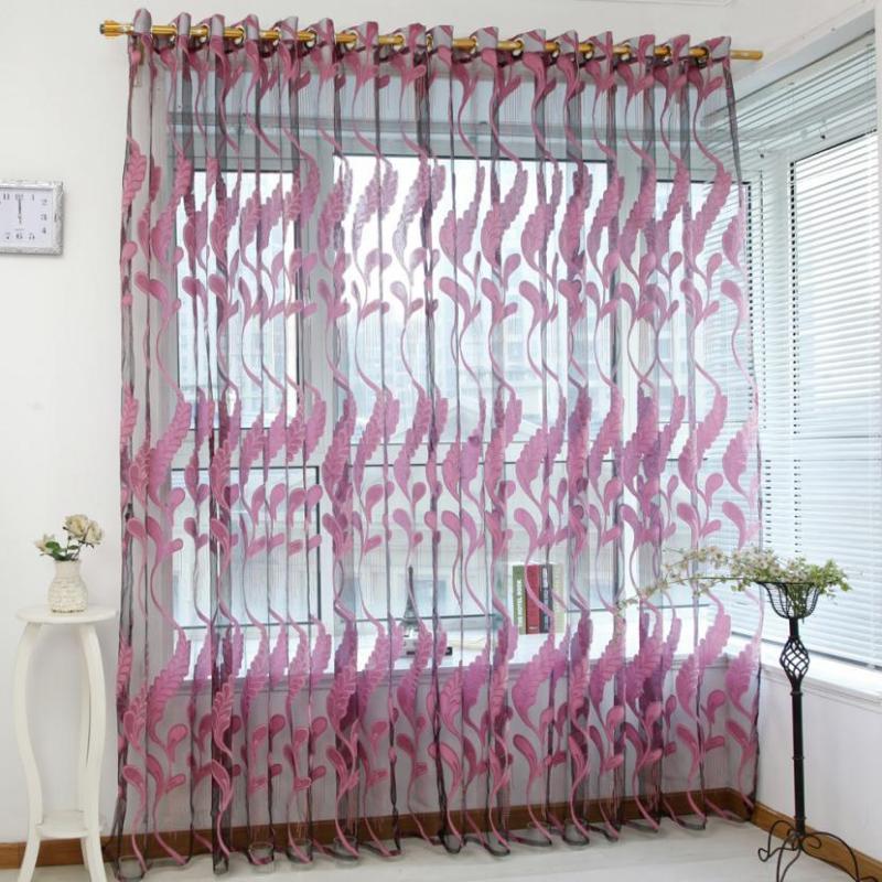 Tende My House Wheat Sheer Tenda Tulle Trattamento della finestra Voile Drape Valance 1 Pannello Tessuto 17OCT20