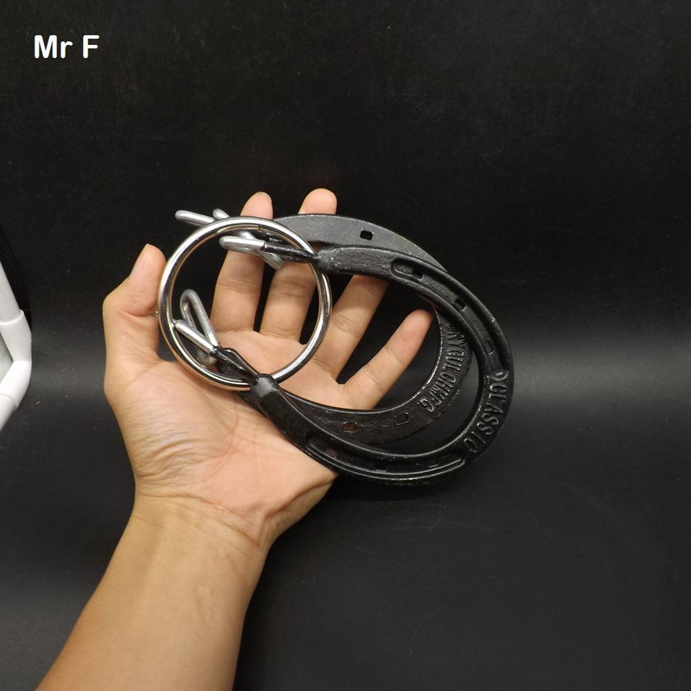 Extra Big Iron Metal Puzzle Ring Modelo Herradura Solución Juego Juguetes Juguetes Brian Taser Gadget Intelligence Jueces Juguetes