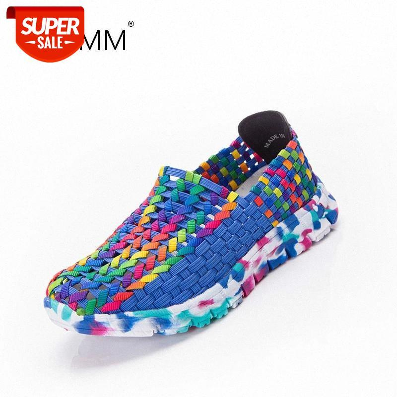 Women Casual Flat Shoes Breathable Ladies Sandals Lady Multicolor Woven Comfortable Women's Shoes Breathable Sports Lazy #gC20
