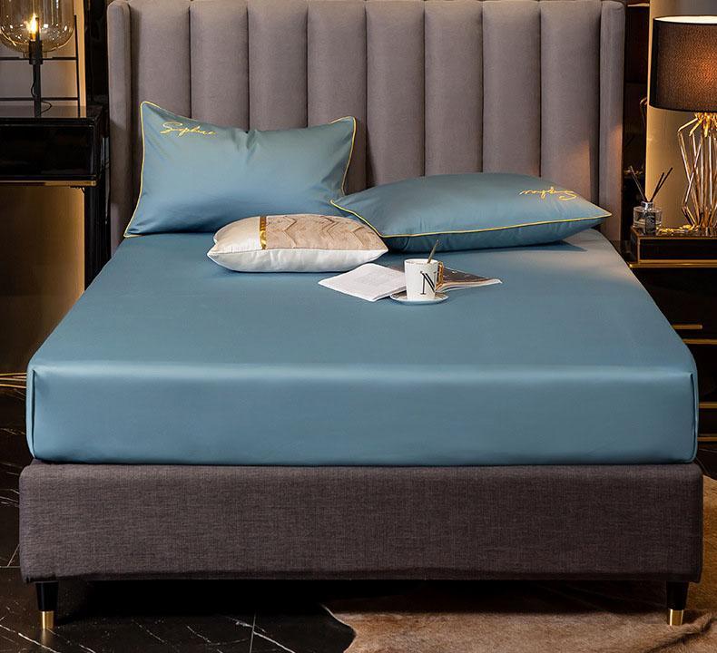 Bettdecke eingebettetes Bettbettblatt Einzelstück 60 Satin Baumwolle 1.8 Matratze Schutzabdeckung Baumwolle staubdichte Tagesdecke Schutzabdeckung