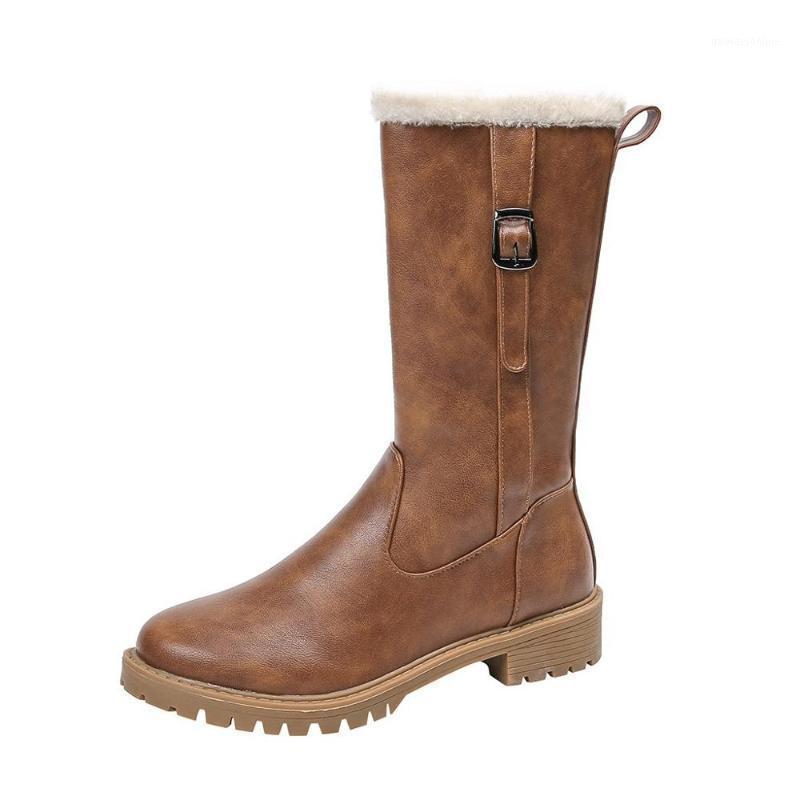 Ботинки 2021 EUR 36-42 зимние женские туфли теплые снегоходы красивые PU для девушки буси, Damskie 3 color1