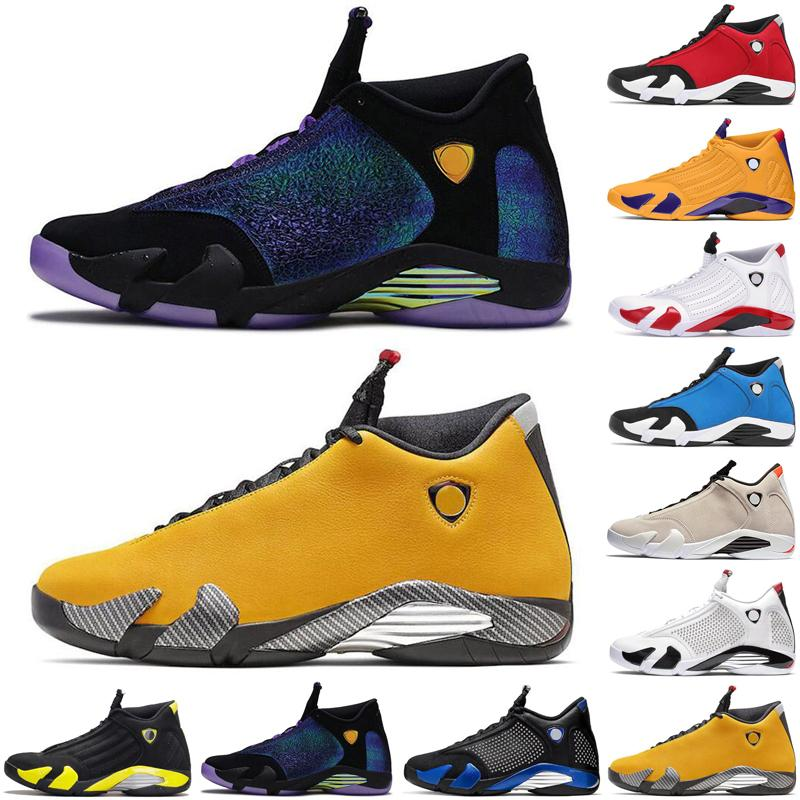 newest satinjordanretro 14 14s jumpman air men basketball shoes Varsity royal Gym Blue mens trainers sports sneakers size 7-13
