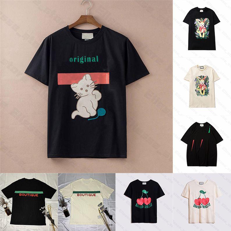 جديد وصول 21ss الصيف المرأة مصمم القمصان الحيوان بلايز ماركة أزياء قصيرة الأكمام سيدة تيز رجل عارضة الملابس الأعلى الملابس 2021