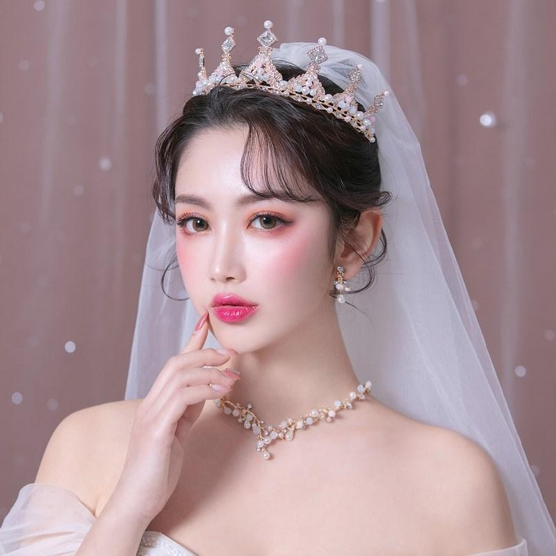 свадебное платье невесты 2020 Новый головной убор высокого класса чистый красный с такой же короной для взрослых