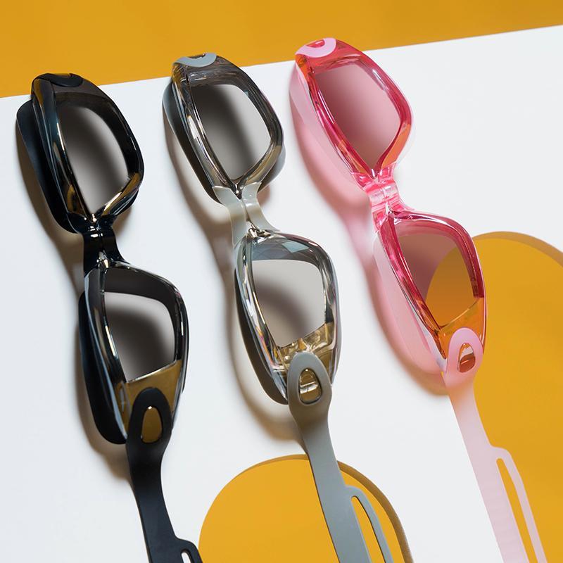 نظارات السباحة المهنية نظارات السباحة مع سدادات الأنف كليب electroplate للماء سيليكون adluts Q0112