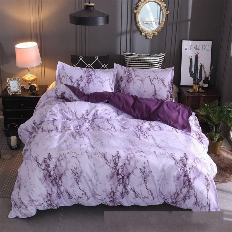 Steinmuster Bettwäsche Set Plain Multi Color Simplicity Quilt Cover Kissenbezug Queen Bett Bettdecken Sets Neue 42xq K2