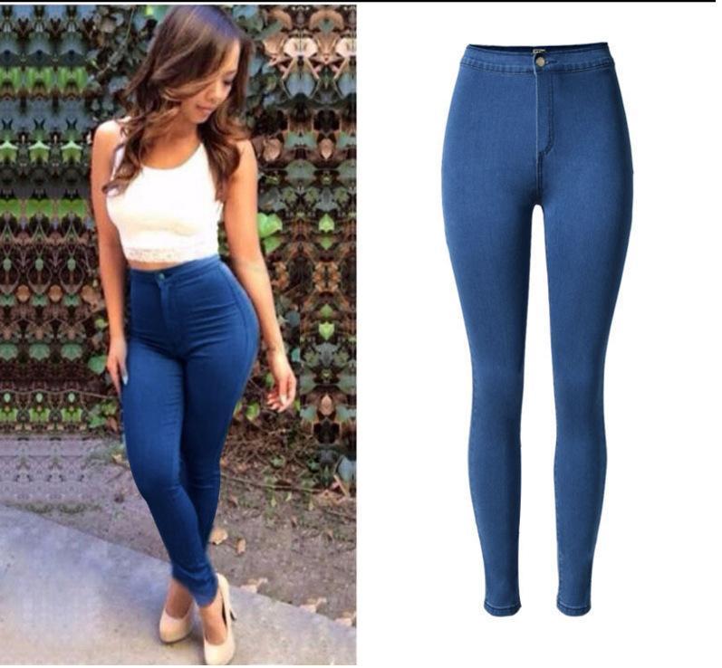 Jeans femme 2020 jeans skinny femme chaude sexy taille haute taille pantalon de crayon bas push up dame plus taille