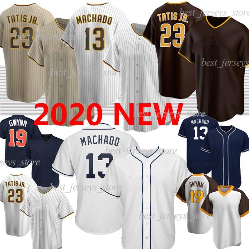 San Diego Padres 23 Fernando Tatis Jr. Baseball Jersey  Фернандо Татис младший бейсбол для бейсбола 13 Manny Machado 19 Tony Gwynn Retro Custom 2020 Новый сезон Джерси