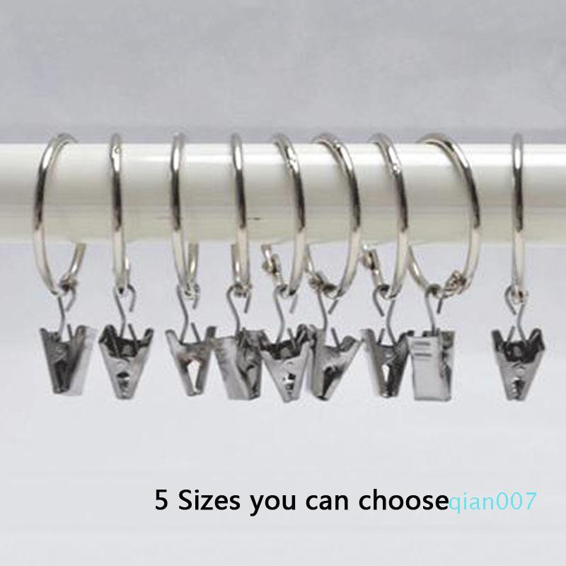 5 Tamanho do chapeamento Cortina Anel Clipe Duche Casa de Banho Cortina Anéis Easy Clip Glide gancho da cortina Rod clipes Início cortinas Acessórios DBC DH0906-5