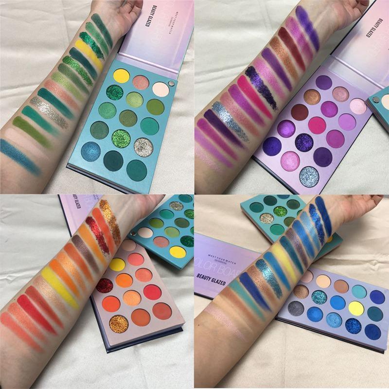 Schönheit Verglaste 60 Farben-pigmentierter Farbe Brett Lidschatten-Palette Mattes Shimmers mischbare Makeup-Palette