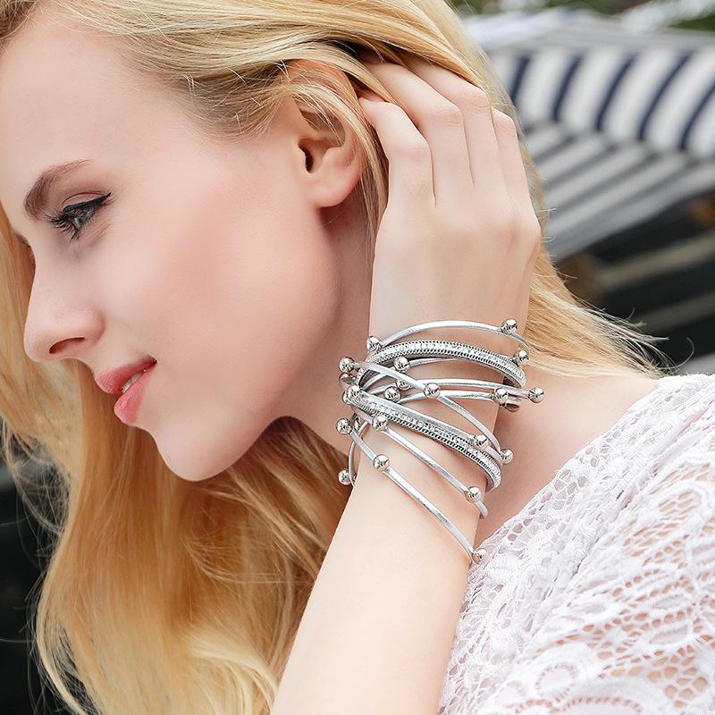 encantos moda em couro Multilayer Pérola PU pulseira de diamante de couro pulseira para mulheres partido jóias de alta qualidade por atacado