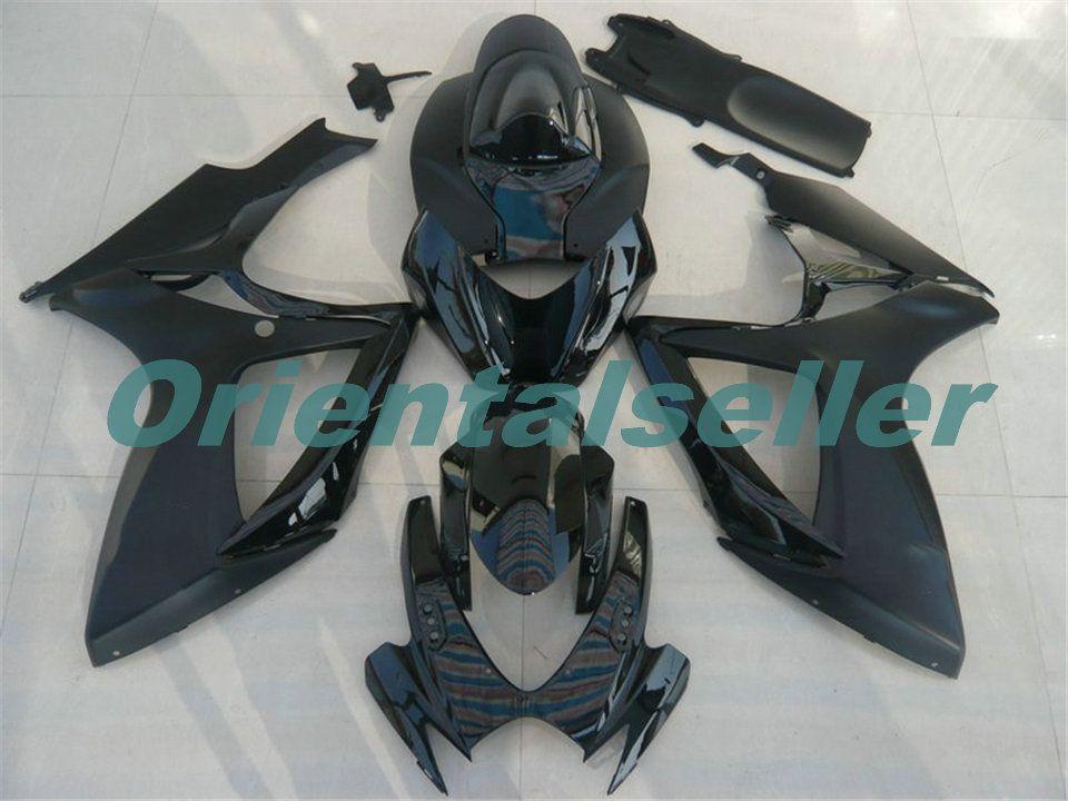 Corpo per Suzuki GSX R600 GSXR750 GSXR600 GSXR600 06-07 GSX R750 GSXR 600 750 K6 GSXR750 2006 2007 carenatura kit nuovo di fabbrica AD153 nero