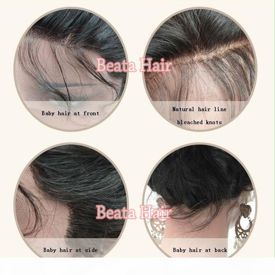 8a Natural ondulata piena pizzo parrucche per capelli umani per donne nere capelli brasiliani tre tonalità # 1b 4 27 parrucca anteriore in pizzo a colori ombre