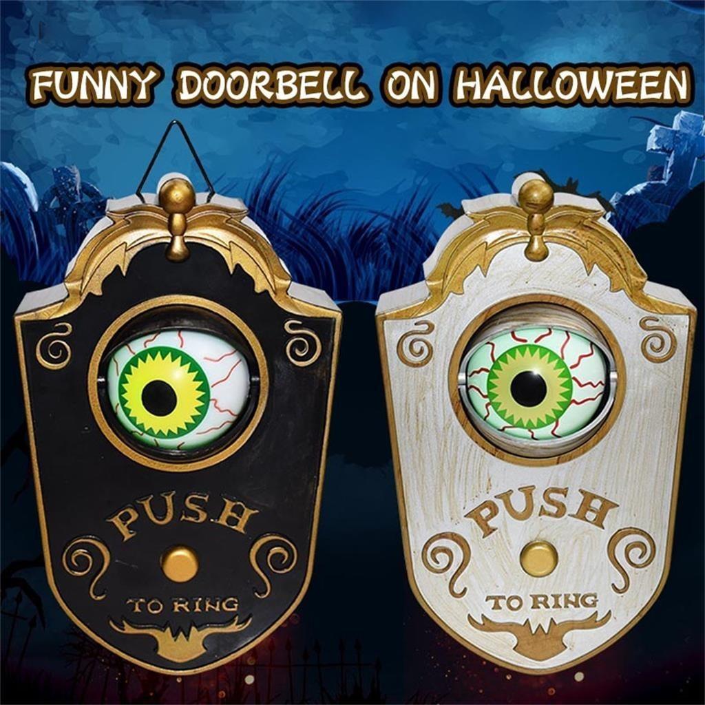Новый Хэллоуин Одноглазый Днем Днем звонка Дня Днем звонка Призрак Светящиеся Висячие Часть Весь Дверь Висит Дверное звонок Healball Bell Украшения 200929