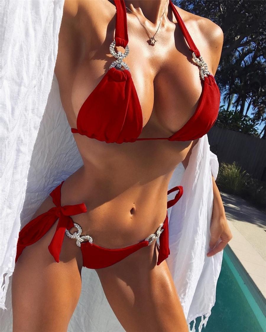 Бразильский бикини набор животных плавательный костюм для женщин 2020 купальник сексуальные купальники стрит купальный костюм отжимается май купальники бикини # 894