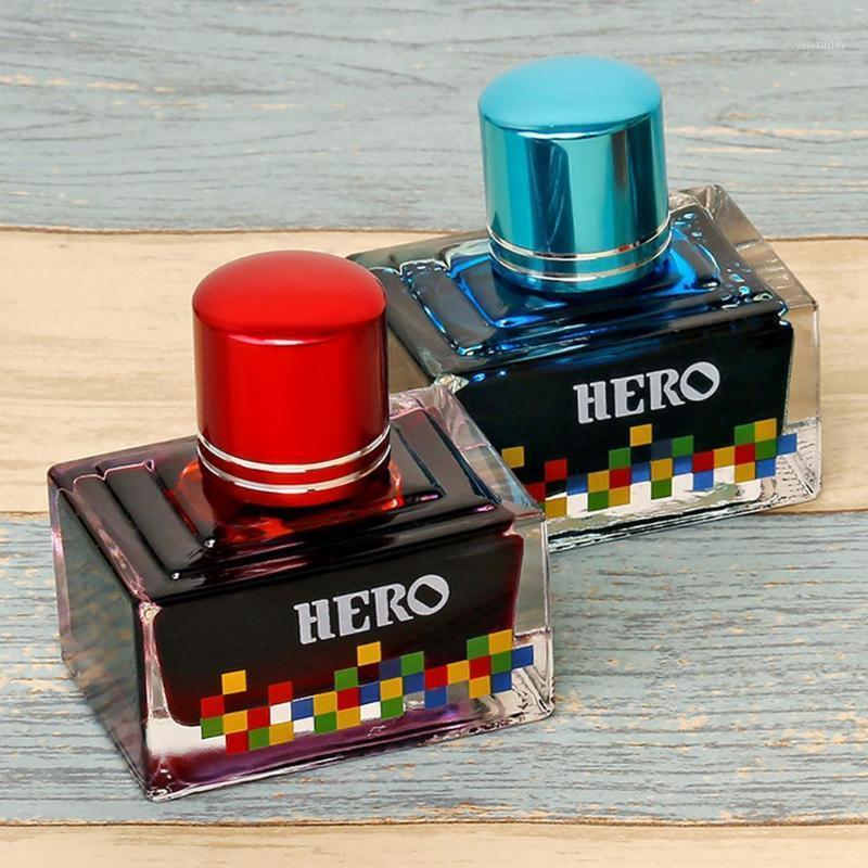 نافورة الأقلام 40 ملليلتر 12 ألوان الحبر السلس الكتابة القلم الزجاج زجاجة طالب مدرسة اللوازم المكتبية القرطاسية 1