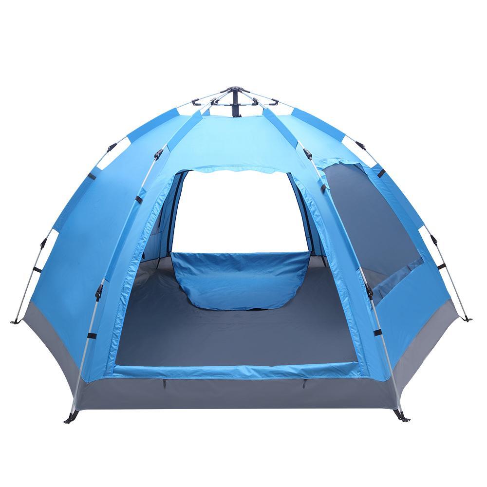 3-4 человека всплывают палатка быстрое автоматическое открытие водонепроницаемое оборудование для кемпинга туризм путешествия на открытом воздухе одиночные слои кемпинга палатки