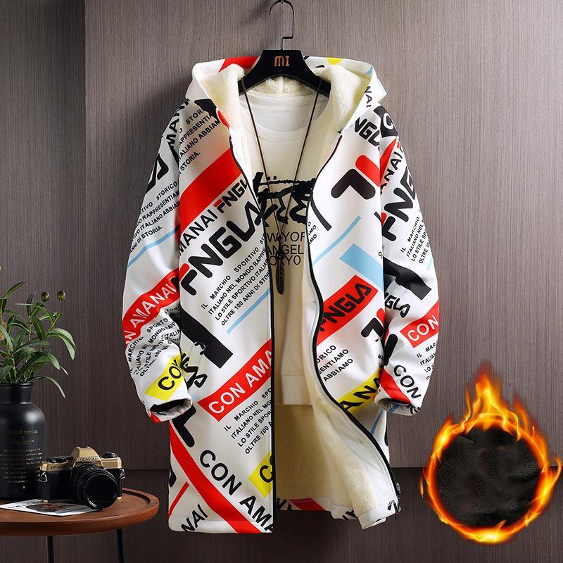 2021 NUEVO otoño invierno abrigo caliente hombres Veet engrosamiento juventud moda casual chaqueta casual más tamaño M-5xl gota envío