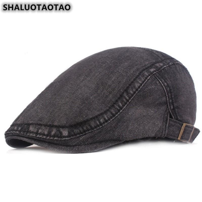 SHALUOTAOTAO Новые джинсовые береты для мужчин Женщины Весна Осень Мода Элегантные ретро отдых Спорт Cap Регулируемая Размер SNAPBACK Hat