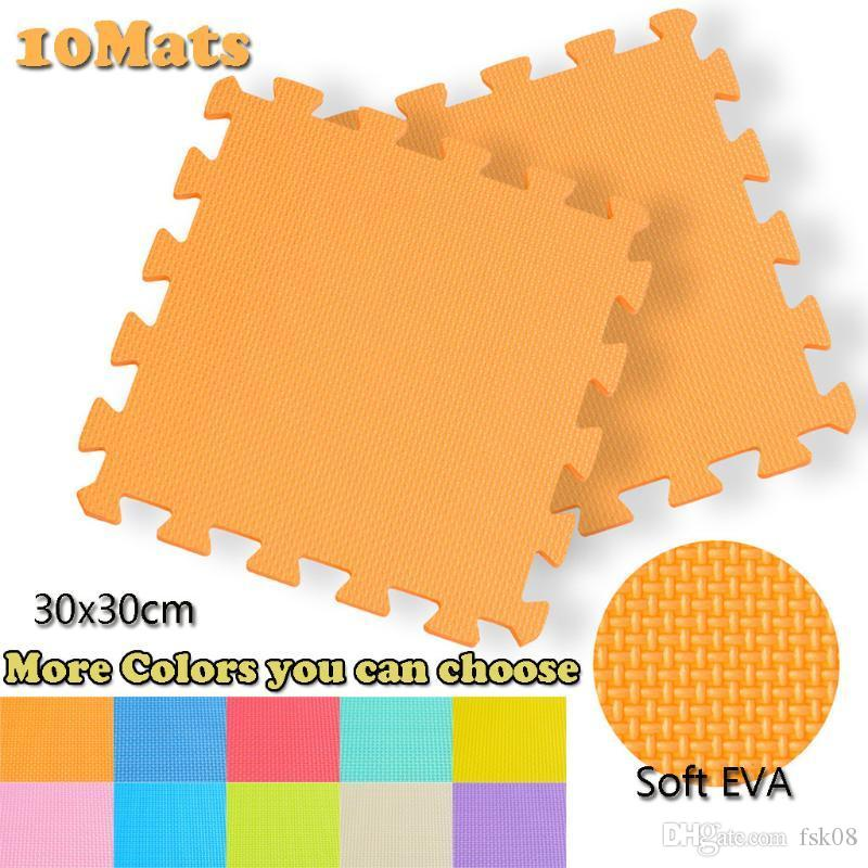 New 10Pcs Yoga Mat Knee Pads Elbow Cushion EVA Mat Home Office Yoga Gym Gymnastic Exercise Workouts Floor Mats Matting L711