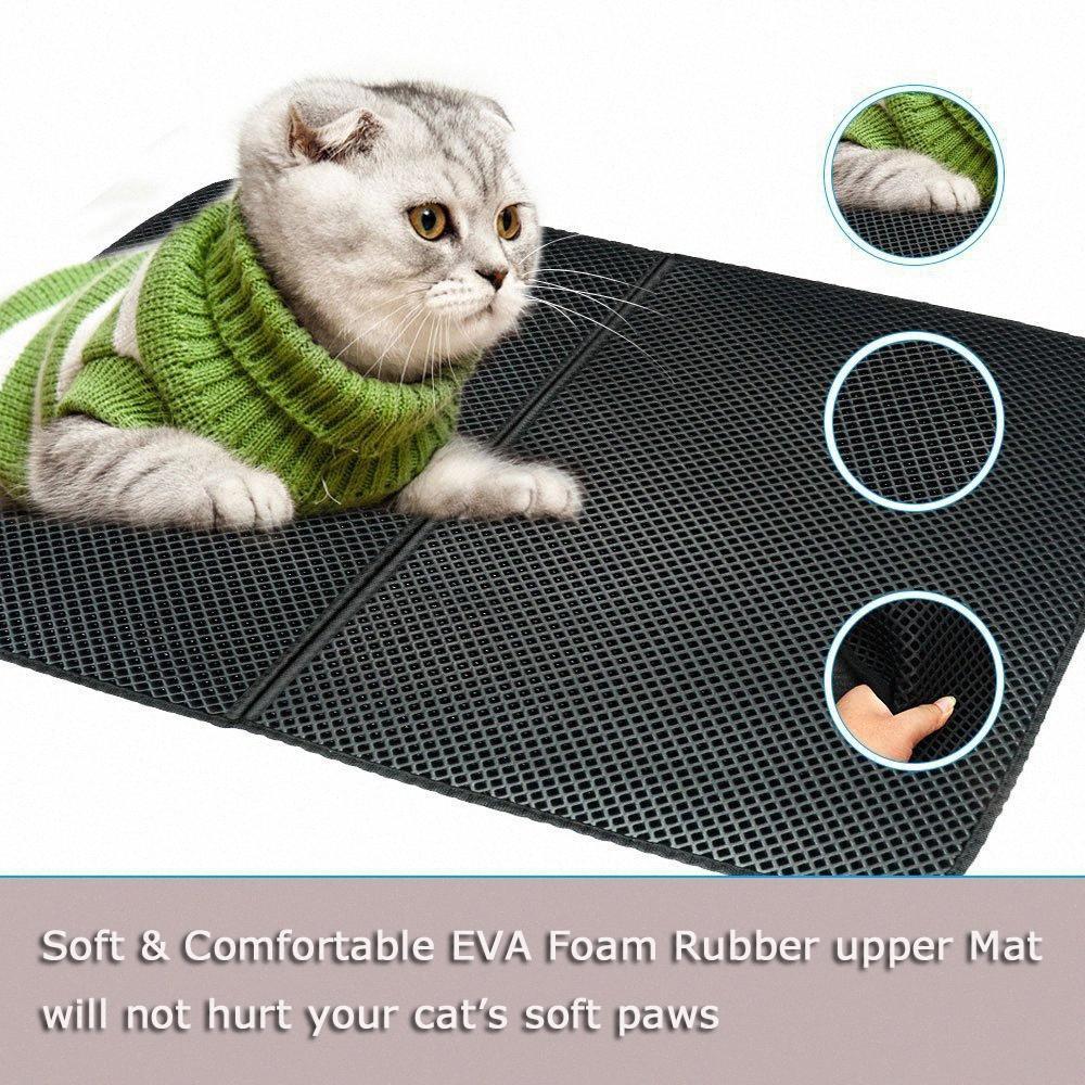 Imperméable Pet Litière Mat EVA Cat double couche litière Trapper Tapis Tapis anti-dérapant Bas Pet Mat Latyer W091 #