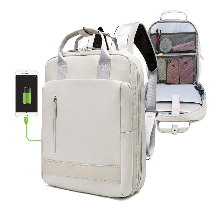 Nuevo bolso de la escuela de la mochila femenina de alta capacidad USB para adolescentes 15.6 pulgadas Laptop Laptop Ladies Juvenil Viaje Back Pack Bag para mujer LJ210203