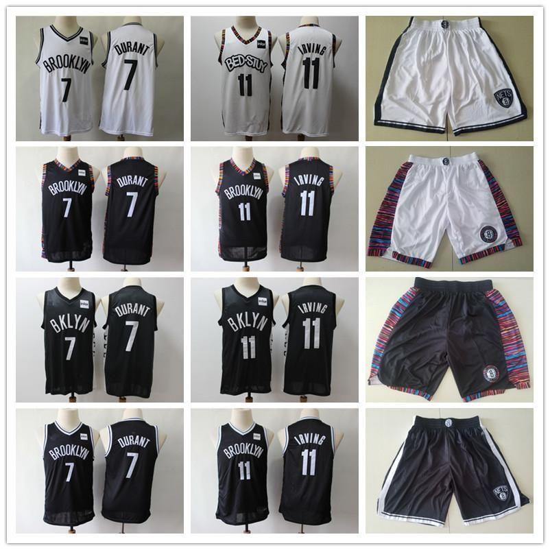 NCAA NCAA HENO BROOKLYNRedesRetroceso jersey kyrie kevin 7 durant 11 Irving Baloncesto Shorts Basketball Jersey Blqck Navy White