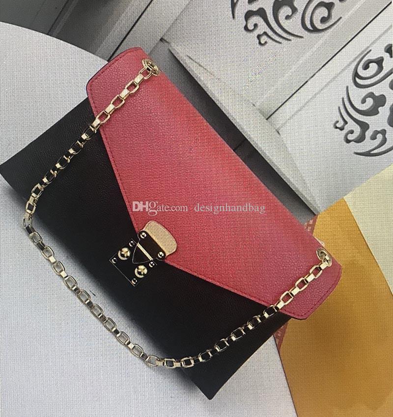 M41200 Качество продажи Топ горячие моды сумки на плечо леди металлическая цепь HASP моно сумка реальная сумка из кожи кожа классические женские сумки 41200 гр.